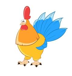 Gold chicken vector