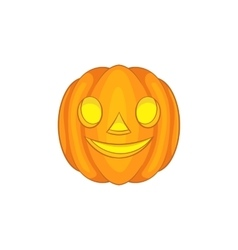 Halloween pumpkin icon cartoon style vector image vector image