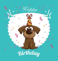 Happy birthday dog cute design vector