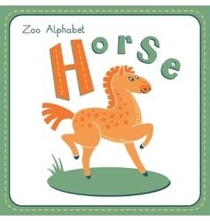 Letter h - horse vector