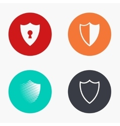 modern shield colorful icons set vector image vector image