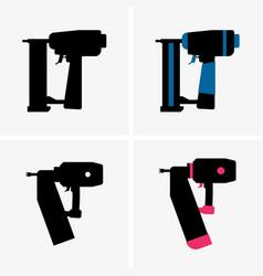 Nail gun vector