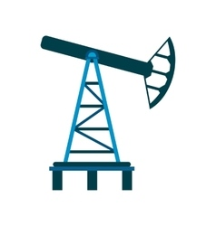 Oil pump flat icon vector image vector image