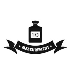one kg logo simple black style vector image