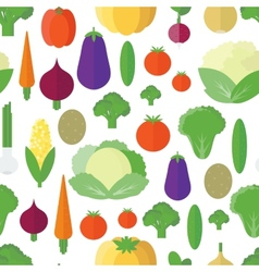 Seamless pattern with vegetables and fruits vector image