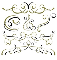 set of elements for design borders vector image
