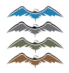 set of native american eagles vector image