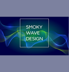 Smoky waves background structural curved pattern vector