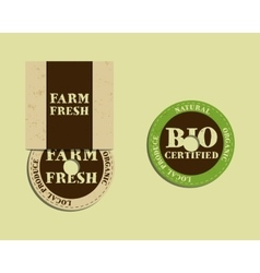Stylish farm fresh cd or dvd templates organic vector