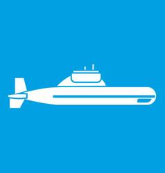 submarine icon white vector image