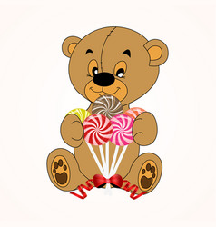 teddy with tie teddy bear vector image