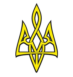 Ukrainian national emblem stylized design vector image vector image