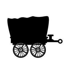 Wagon carriage cowboy icon graphic vector
