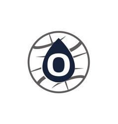 Water oil world letter o vector