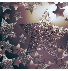 Christmas stars background vector