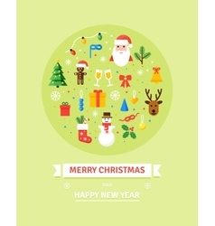 Christmas symbols  card in vector