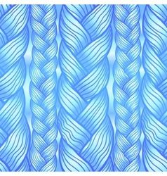 Blue abstract seamless hair pattern vector image