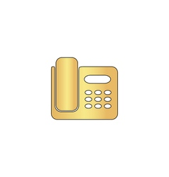 Office phone computer symbol vector