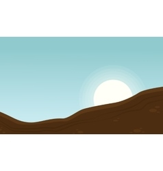 Landscape of ground for game backgrounds vector