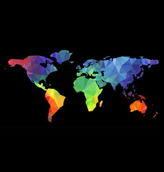World map low poly vector