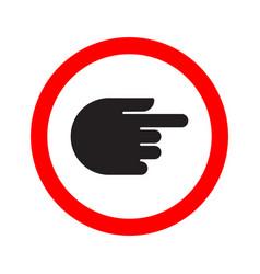 Traffic indicator turn sign hand vector