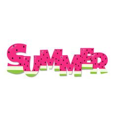 summer watermelon text vector image