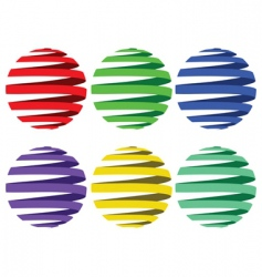 Sphere ribbons vector