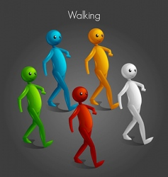 Man walking vector