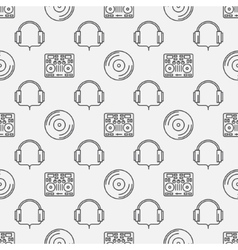 DJ minimal seamless pattern vector image