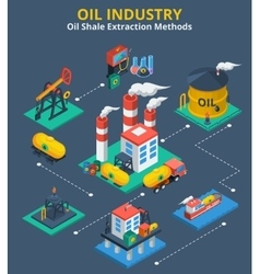 Oil industry isometric concept vector