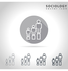 Sociology outline icon vector