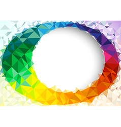 Geometric colorful background vector
