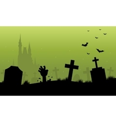 Green backgrounds halloween scenery vector