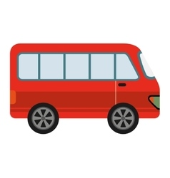 Red van isolated icon design vector
