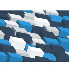 Abstract backdrop with random cubes vector image