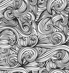 abstract wave hand-drawn pattern seamless texture vector image vector image