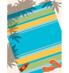 Beach towel vector image