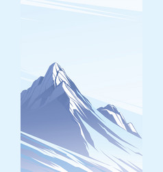 blue mountains with snow vector image