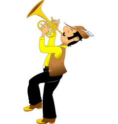 Cheerful trumpeter vector