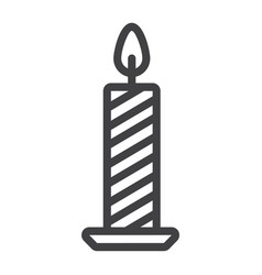 christmas candle line icon new year and christmas vector image vector image