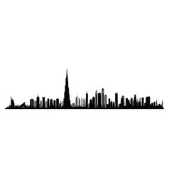 city dubai skyline uae cityscape united arab vector image