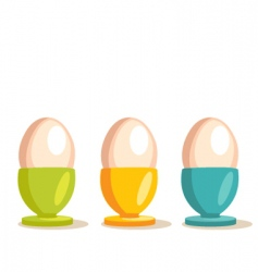 Egg cup vector