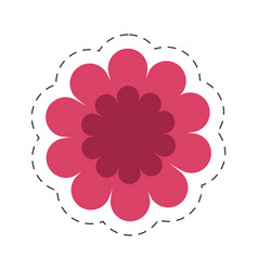 Gerbera flower spring color cut line vector