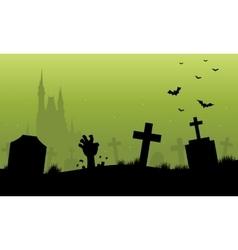 Green backgrounds halloween scenery vector