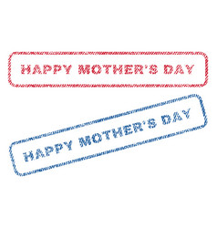 Happy mother s day textile stamps vector