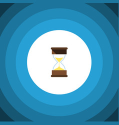 Isolated loading flat icon sand timer vector