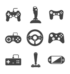 Joystick icons set vector image vector image