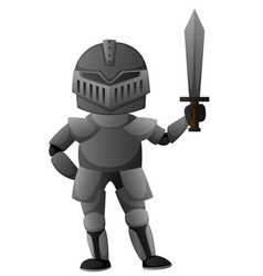 Knight with iron armour vector