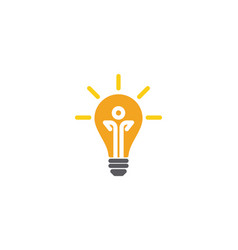 Light bulb symbol logo template vector