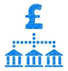Pound bank scheme grainy texture icon vector